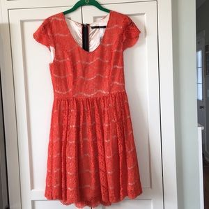 Red/orange Kensie dress